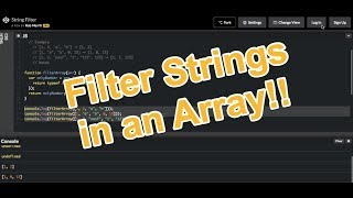 Filter Strings in an Array