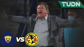¡Se prendió! El 'Piojo' se encara con la banca de Pumas | Pumas 0-0 América | Copa por México | TUDN