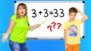 Сережа НЕ МОЖЕТ Решить Пример 3+3=33? Мама Устроила Математику Дома!