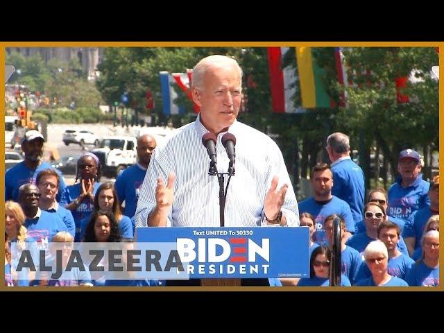 ???????? Presidential hopeful Joe Biden calls for unity in inaugural rally | Al Jazeera English