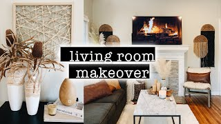 LIVING ROOM MAKEOVER on a Budget // Transformation PART 2