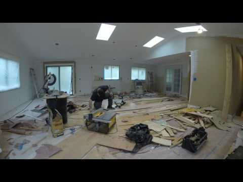 Time Lapse Kitchen Remodel with wall removal