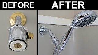 How to Change a Shower Head: Installing a Handheld Shower Head