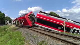 Polska: Osiem rannych, gdy pociąg jadący do Berlina wykolei się w pobliżu granicy