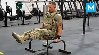 STRONGEST Soldier in Army Gym - Diamond Ott | Muscle Madness