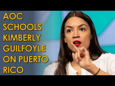 AOC SCHOOLS Kimberly Guilfoyle after she calls Puerto Ricans Immigrants in RNC Convention Speech