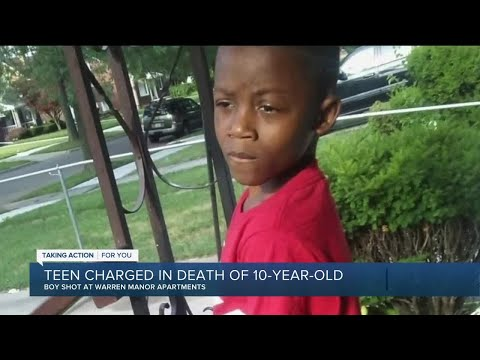 Teen charged in death of 10-year-old in Warren
