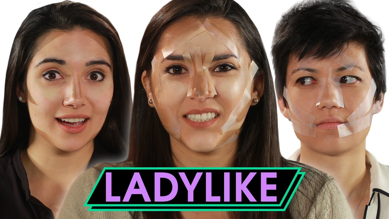 Women Try Tape Contouring • Ladylike thumbnail