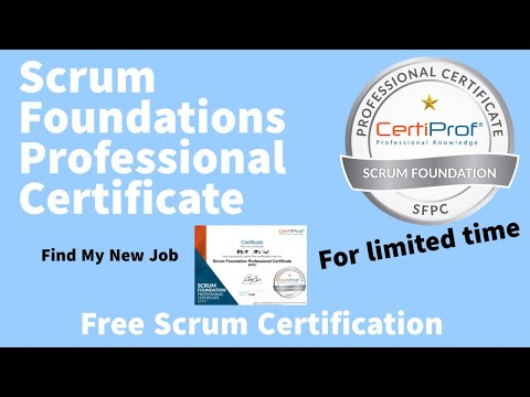 Free Certification(100% Free )| Scrum Foundations Professional ...