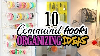 💗 10 Organizing Ideas Using Command Hooks 💗 Home Decor Ideas