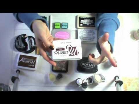 Tutorial attrezzature scrapbooking: Inchiostri/Tamponi per timbri - Basi Scrapbooking