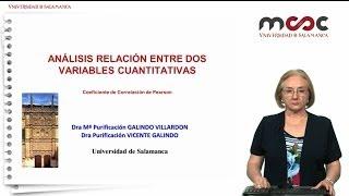 Análisis de relación entre dos variables cuantitativas Coeficiente de correlación de Pearson Módulo3