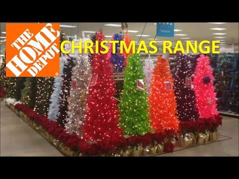 Christmas Range in US store HOME DEPOT with trees and outdoor displays #homedepot