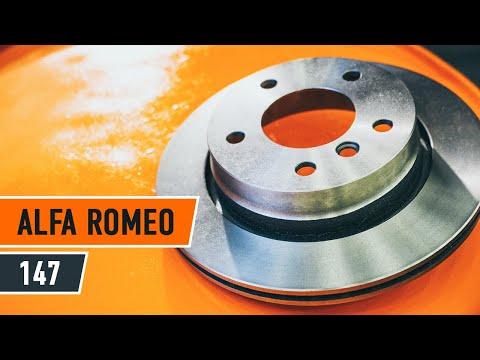Wie ALFA ROMEO 147 Bremsscheiben hinten, Bremsbeläge hinten wechseln TUTORIAL | AUTODOC