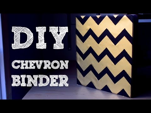 How to: Add Chevron Without Measuring! | DIY Binder