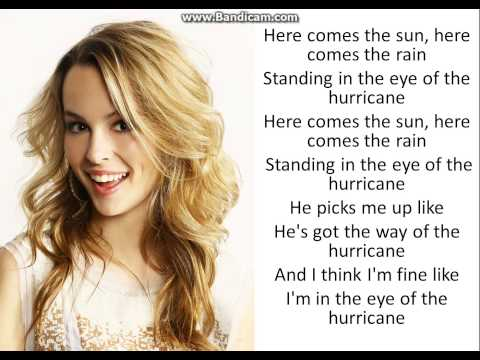 Hurricane Bridgit Mendler ( Lyrics )