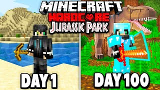 I Survived 100 Days in Jurassic Park on Minecraft.. Here's What Happened..