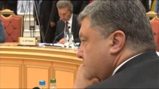 Смотреть онлайн Встреча и переговоры Путина и Порошенко