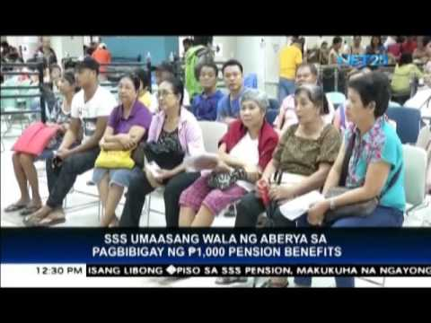 Video SSS pensioners will now receive additional Php 1,000 pension benefits