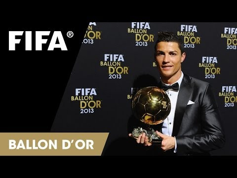 Cristiano Ronaldo tears up at Ballon d'Or