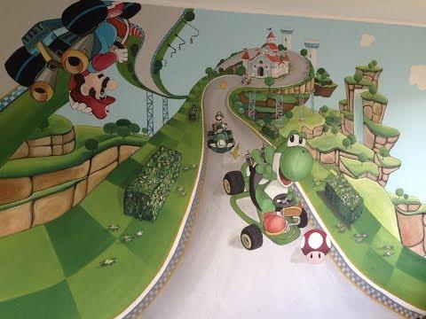 #Anna malt - Timon wünscht sich ein Yoshi an seine Wand und Anna malt es