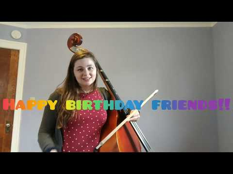 I've been making videos for my school kids so they could still learn new songs while staying home.  This is a bass video for Happy Birthday!