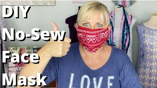 DIY No Sew Face Mask Easy and Quick for Anyone