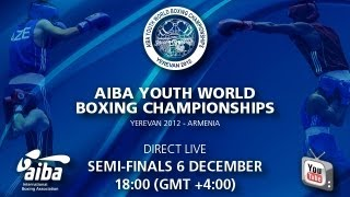 preview picture of video 'Semifinals (Session 14) - AIBA Youth World Boxing Championships Yerevan 2012'