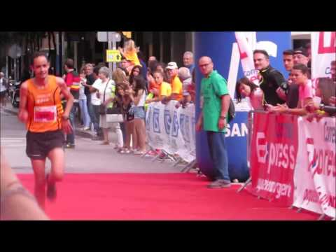 Llegada del campeón 10km 2ª Carrera Correos Express Sansi Sant Adrià 06/04/17