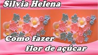 Como fazer flores de açúcar