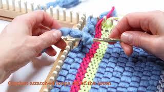 Weaving On A Knitting Loom