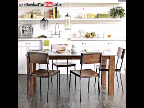 Küchen Tisch Stühle Esszimmer Rustikal Wandfliesen Weiß