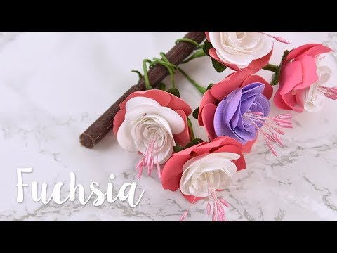 How to make a paper fuchsia - Sizzix