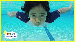 Ryan Swimming in the Pool for the last day of summer before Back To School!!