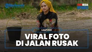 Cerita di Balik Viralnya Foto-foto Suami Istri Bak Model di Jalan Rusak, Lihat Potretnya