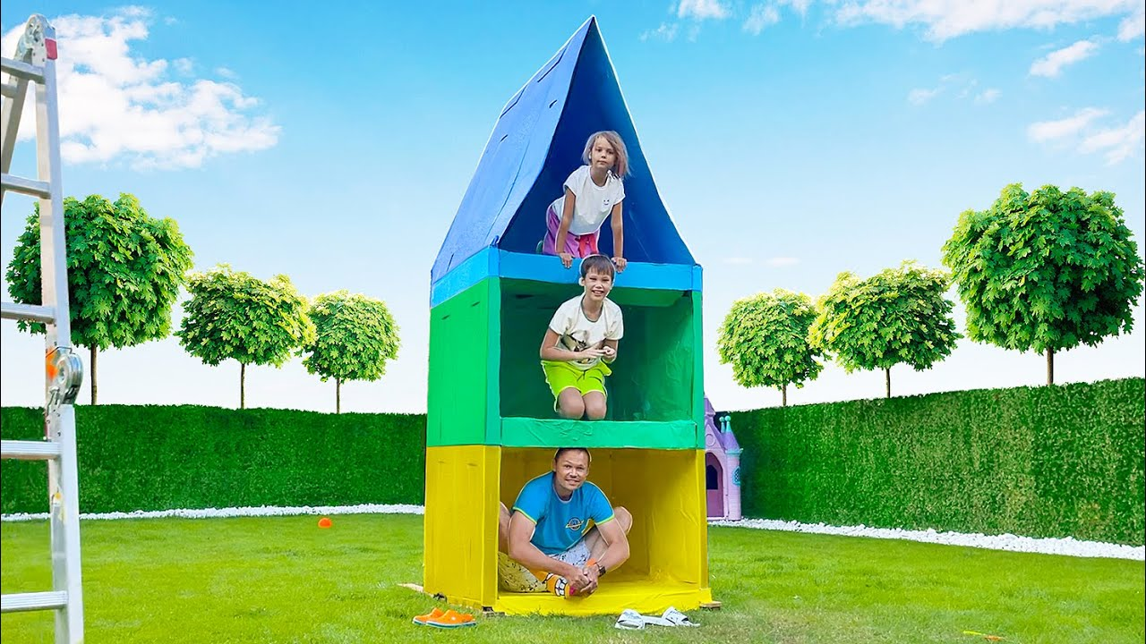 Построили 3х этажный Дом из картона