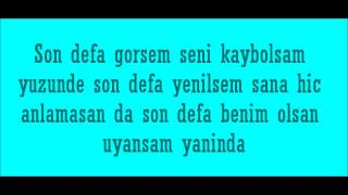 Emre Aydin- Son Defa Lyrics