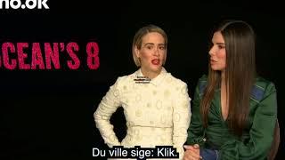 Sarah Paulson, Sandra Bullock, Cate Blanchett Mindy kailing Interview 2018 Ocean