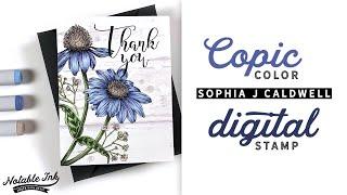 Copic Color Digital Stamps | Sophia J Caldwell