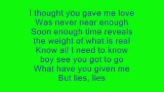 Go Ahead - Alicia Keys - Lyrics