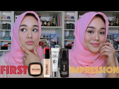LOREAL INFALLIBLE STAY FRESH 24 H FOUNDATION   FIRST IMPRESSION & REVIEW   MakeupbyFatya