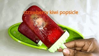strawberry kiwi popsicle/easy popsicles at home/summer popsicles by  Aami's Addictions In 5 Minutes