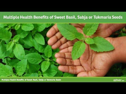 Video Multiple Health Benefits of Sweet Basil, Sabja or Tukmaria Seeds