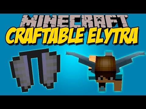 CRAFTABLE ELYTRA MOD - Crafteo de las Alas de elytra!!!! - Minecraft mod 1.9 Review ESPAÑOL