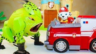 Мультики про машинки Щенячий патруль против Ромео Герои в масках Мультфильмы для детей #машинки