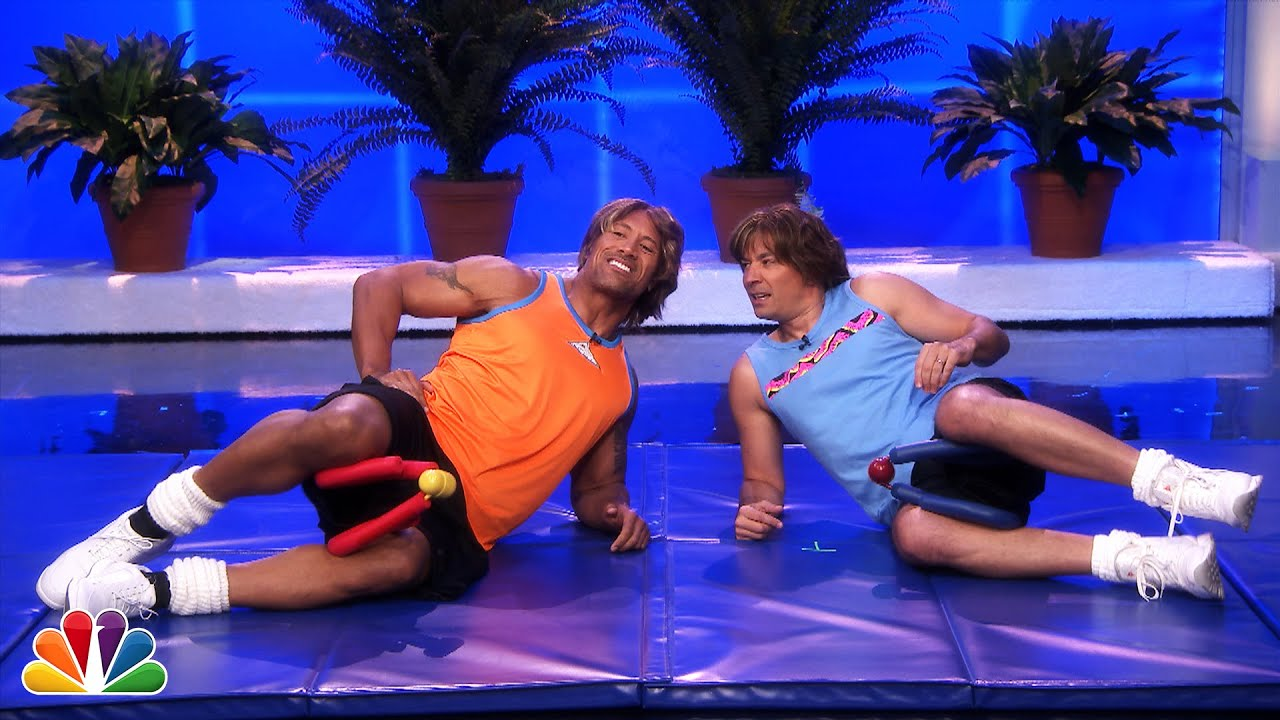 Jimmy Fallon & Dwayne Johnson's Workout Videos thumbnail