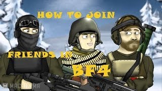 "Battlefield 4 (Ps4) How to join on ""Friends"" from in game ""Menu"" using ""Battlelog"""