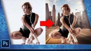Как поменять фон на фото.  Как вставить фон в фотошопе