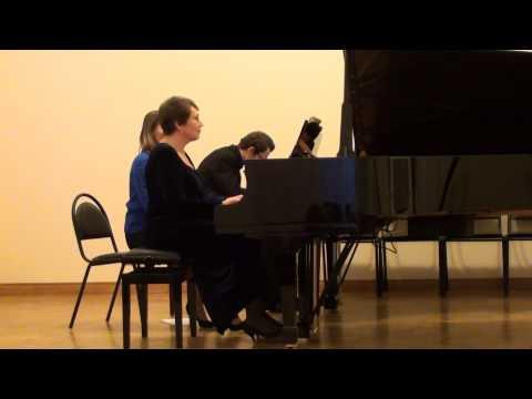 F. Poulenc. Sonata for two pianos (mov. 3-4)