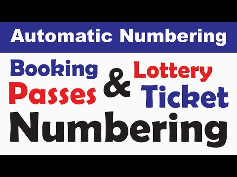 Ticket Numbering with Number Pro and Corel Draw X7